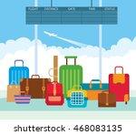illustration of a big pile... | Shutterstock . vector #468083135