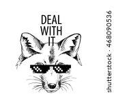 "fox portrait in a glasses ""deal ... | Shutterstock .eps vector #468090536"