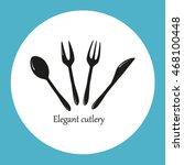 cutlery vector icon | Shutterstock .eps vector #468100448