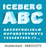 iceberg font. ice alphabet.... | Shutterstock .eps vector #468101372