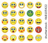 emoji. emoticons smile icon set.... | Shutterstock .eps vector #468105422
