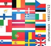all flags  eu member states ...   Shutterstock . vector #468112712