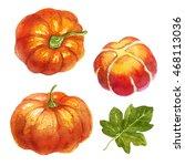 watercolor pumpkin | Shutterstock . vector #468113036