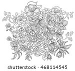hand drawn ink pattern.... | Shutterstock . vector #468114545