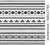 seamless ethnic pattern. black...   Shutterstock .eps vector #468117782