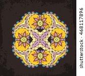 vector mandala. mehndi lace...   Shutterstock .eps vector #468117896