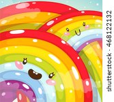 cute rainbows  children's... | Shutterstock .eps vector #468122132