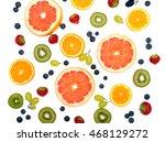 fresh fruits isolated on white...   Shutterstock . vector #468129272