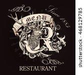 elegant menu design for...   Shutterstock .eps vector #468129785