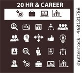 human resources  career icons | Shutterstock .eps vector #468131786