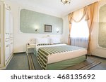 interior of luxury double bed... | Shutterstock . vector #468135692