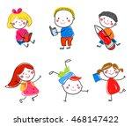sketch children | Shutterstock .eps vector #468147422