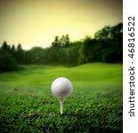 illustration of a golf ball on...   Shutterstock . vector #46816522