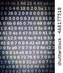 digital number background... | Shutterstock . vector #468177518
