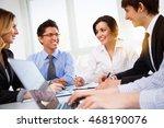 business people having meeting... | Shutterstock . vector #468190076