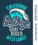 san diego big wave surf rider... | Shutterstock .eps vector #468190922