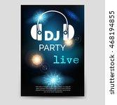 music party brochure flyer... | Shutterstock .eps vector #468194855