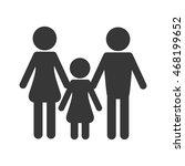 flat design family pictogram...   Shutterstock .eps vector #468199652