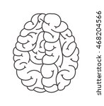 flat design human brain cartoon ... | Shutterstock .eps vector #468204566