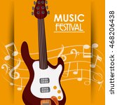 electric guitar music note... | Shutterstock .eps vector #468206438