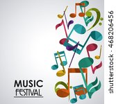 music note sound media festival ... | Shutterstock .eps vector #468206456