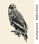 eagle. hand drawn design... | Shutterstock .eps vector #468214262