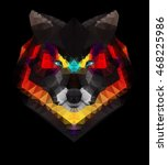 abstract geometric polygonal... | Shutterstock .eps vector #468225986