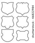 set of blank shield frames ... | Shutterstock .eps vector #46822984