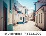 empty street in ericeira... | Shutterstock . vector #468231002