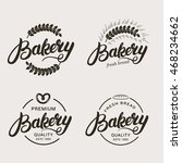 set of bakery and bread logo.... | Shutterstock .eps vector #468234662
