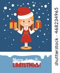 template of holiday postcard.... | Shutterstock .eps vector #468234965