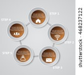 5 steps chart template graphic... | Shutterstock .eps vector #468237122