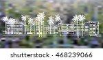 panorama illustration. hand... | Shutterstock .eps vector #468239066