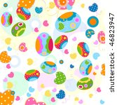 easter eggs and butterflies | Shutterstock .eps vector #46823947