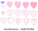hand drawn hearts. vector...