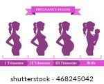 vector illustration of pregnant ... | Shutterstock .eps vector #468245042