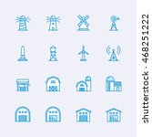 buildings icons | Shutterstock .eps vector #468251222