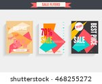 set sale poster with percent... | Shutterstock .eps vector #468255272