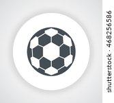 dark gray soccer ball icon...