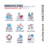 types of insurance line design... | Shutterstock .eps vector #468258008
