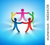 together. teamwork concept with ... | Shutterstock . vector #468264158