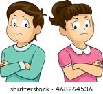 illustration of a little girl... | Shutterstock .eps vector #468264536