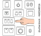 vector set of electric switch   Shutterstock .eps vector #468268016