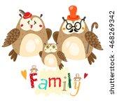 the owl family | Shutterstock .eps vector #468269342