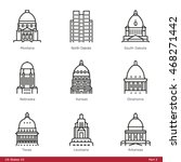 us state capitols  part 2   ... | Shutterstock .eps vector #468271442