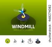 windmill color icon  vector...