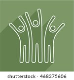 happy people outline icon. | Shutterstock .eps vector #468275606