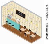 flat 3d isometric coffee shop... | Shutterstock .eps vector #468286376
