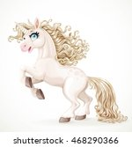 cute fairytale unicorn with... | Shutterstock .eps vector #468290366