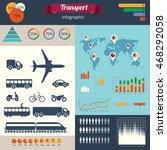 a modern set of infographics... | Shutterstock . vector #468292058